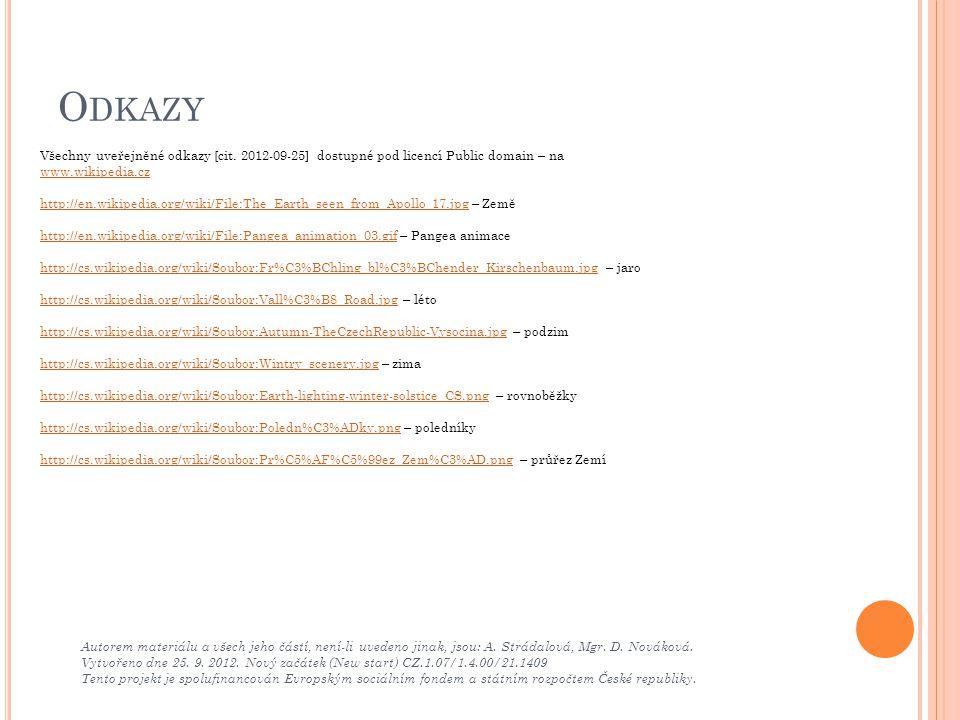 Odkazy Všechny uveřejněné odkazy [cit. 2012-09-25] dostupné pod licencí Public domain – na www.wikipedia.cz.